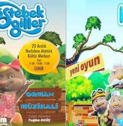 Köstebekgiller Müzikal Çocuk Oyunu 6 ve 20 Aralık'ta İzmir'de!