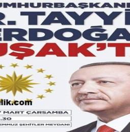 Cumhurbaşkanı Recep Tayyip Erdoğan Uşak Mitingi – 27 Mart 2019