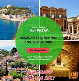 Her Pazar İzmir Çıkışlı Kuşadası Efes Meryem Ana ve Şirince Turu 2019