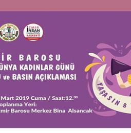İzmir 8 Mart Dünya Kadınlar Günü Yürüyüşü 2019