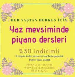 İzmir Piyano Kursu 2019