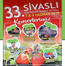 33. Sivaslı Çilek Kültür ve Sanat Festivali 2019