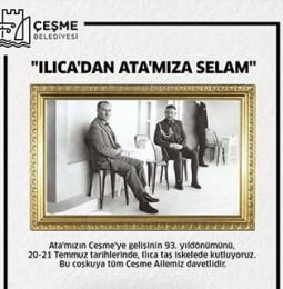 Atatürk'ün Çeşme'ye Gelişinin 93. Yıldönümü Kutlamaları 2019