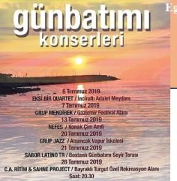 İzmir Günbatımı Konserleri Temmuz Programı 2019
