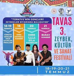 Tavas 3. Zeybek Kültür ve Sanat Festivali 2019