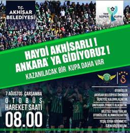 Galatasaray – Akhisarspor Süper Kupa Maçı için Ücretsiz Otobüs