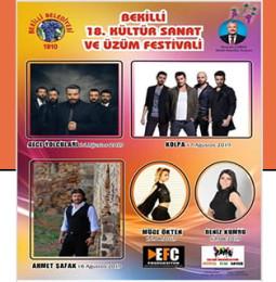 18. Bekilli Üzüm Festivali 2019