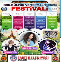 Emet Bor-Kültür ve Termal Turizm Festivali 2019