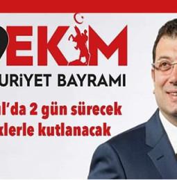 İstanbul 29 Ekim Cumhuriyet Bayramı Kutlama Programı 2019