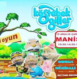 Köstebekgiller Müzikli Çocuk Oyunu 19 Aralıkta Manisada!