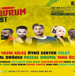 """SO Bodrum Fest""""19 – 25/28 Nisan 2019"""