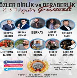 Özler Birlik ve Beraberlik Festivali 2019
