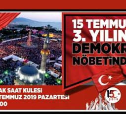 İzmir 15 Temmuz Demokrasi Nöbeti 2019