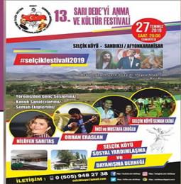 13. Sarı Dede'yi Anma ve Kültür Festivali 2019