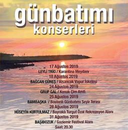 İzmir Günbatımı Konserleri Ağustos Ayı Programı 2019