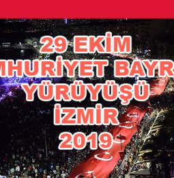 İzmir 29 Ekim Cumhuriyet Yürüyüşü 2019