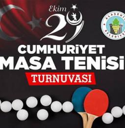 Alaşehir Cumhuriyet Masa Tenisi Turnuvası – 29 Ekim 2019