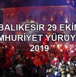 Balıkesir 29 Ekim Cumhuriyet Yürüyüşü 2019