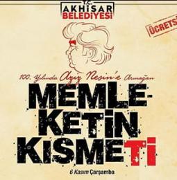 Memleketin Kısmeti Tiyatro Oyunu 6 Kasım'da Manisa'da!
