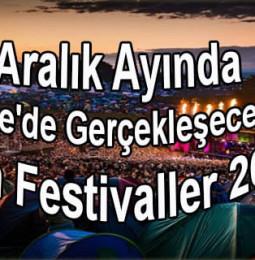Aralık Ayında Ege'de Gerçekleşecek Tüm Festivaller 2019