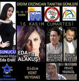 Didim Erzincan Tanıtım Günleri – 15/17 Kasım 2019