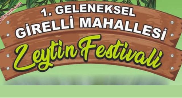 1. Girelli Mahallesi Zeytin Festivali – 24 Kasım 2019