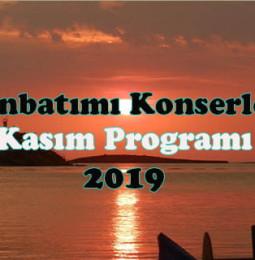 Günbatımı Konserleri Kasım Programı 2019