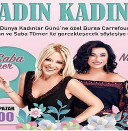 Saba Tümer ve Nilgün Belgün 8 Mart'ta Bursa'da