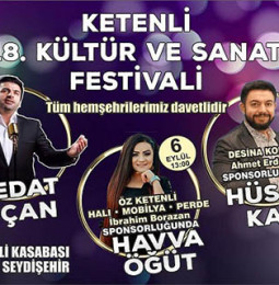 Ketenli 18. Kültür ve Sanat Festivali – 04 Eylül/06 Eylül 2020
