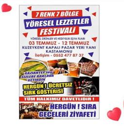 Kastamonu Yöresel Lezzetler Festivali – 03/12 Temmuz 2020