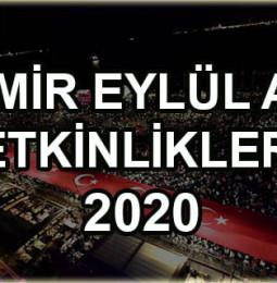 İzmir Eylül Ayı Etkinlikleri 2020