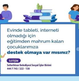 Seferihisar Belediyesi Ücretsiz Tablet Başvurusu