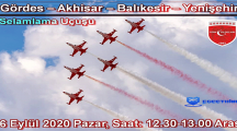 Türk Yıldızları 6 Eylül Selamlama Uçuşu 2020