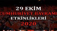 29 Ekim Cumhuriyet Bayramı Etkinlikleri 2020