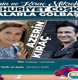 Azerin ve Kıraç 29 Ekim Gölbaşı Konseri – 2020 Ankara