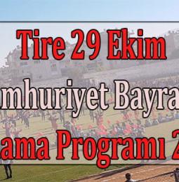 Tire 29 Ekim Cumhuriyet Bayramı Kutlama Programı 2020
