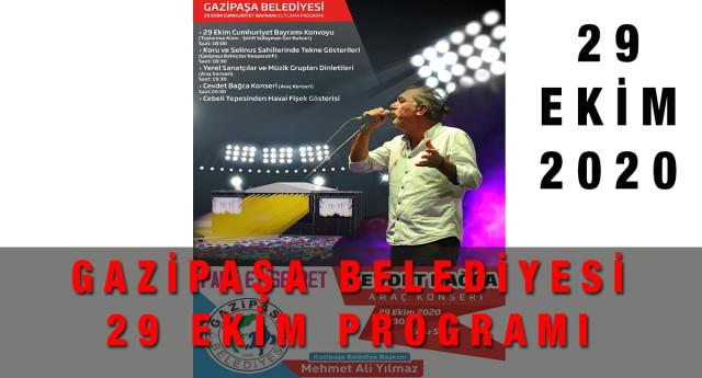 Gazipaşa Belediyesi 29 Ekim Kutlama Programı 2020