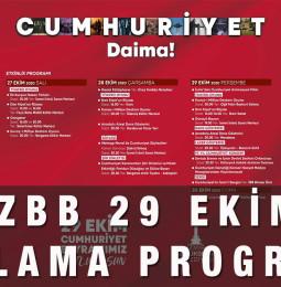 İzmir Büyükşehir Belediyesi 29 Ekim Kutlama Programı 2020