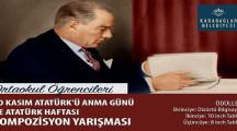 İzmir Karabağlar Belediyesi Tablet Ödüllü 10 Kasım Yarışması 2020