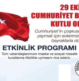 Karaburun Belediyesi 29 Ekim Kutlama Programı 2020