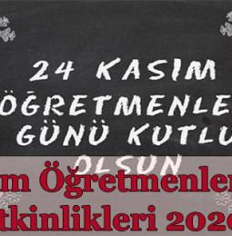 24 Kasım Öğretmenler Günü Etkinlikleri 2020