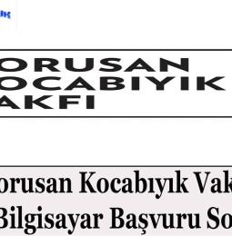 Borusan Kocabıyık Vakfı Ücretsiz Tablet Bilgisayar Başvuru Sonuçları