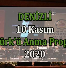 Denizli 10 Kasım Atatürk'ü Anma Günü Etkinlikleri 2020