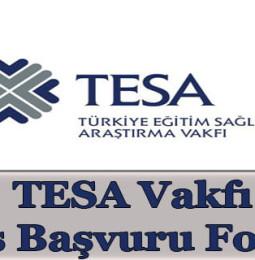 TESA Vakfı Burs Başvuru Formu 2020/2021