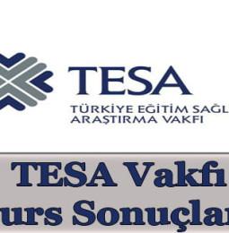 TESA Vakfı Burs Başvuru Sonuçları 2020/2021