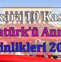 Ankara 10 Kasım Atatürk'ü Anma Günü Etkinlikleri 2020