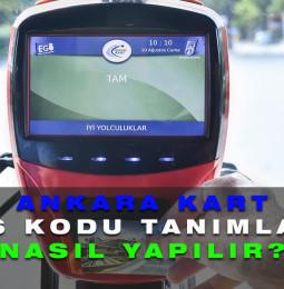 Ankara Kart Hes Kodu Tanımlama Yükleme Kayıt Formu