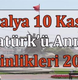 Antalya 10 Kasım Atatürk'ü Anma Etkinlikleri 2020