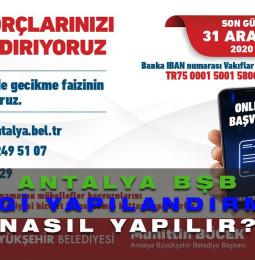 Antalya Büyükşehir Belediyesi Vergi Yapılandırma Başvurusu