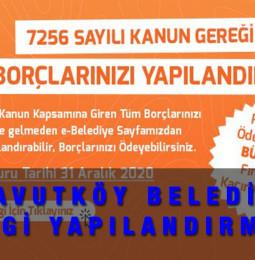 Arnavutköy Belediyesi Vergi Affı Yapılandırması Başvuru